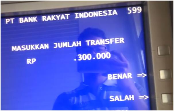 Masukan Jumlah Uang yang Akan Ditransfer