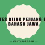 Kata Cinta Bahasa Jawa Archives Wahyukode