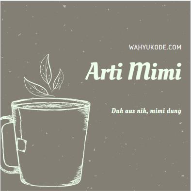 Arti Mimi menurut KBBI Bahasa Gaul Kekinian