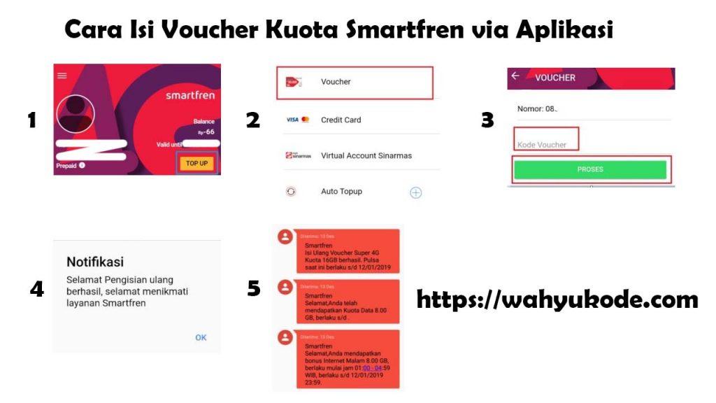 Cara Isi Voucher Kuota Smartfren dengan MySmartfren Apps