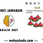 Kunci Jawaban Brain Out Level 4 Temukan Semangka yang Berbeda