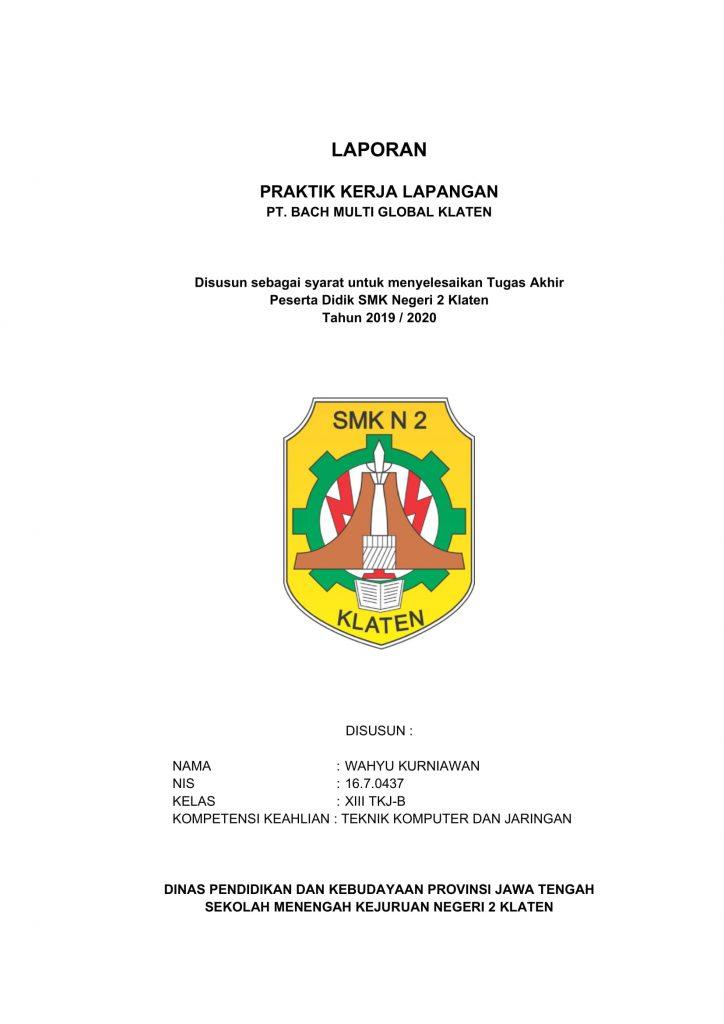Contoh Cover Laporan PKL yang Baik & Benar