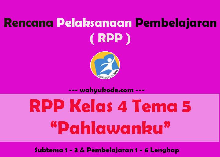 RPP Kelas 4 Tema 5