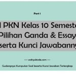 √ Soal PKN Kelas 10 Semester 2 Pilihan Ganda & Essay Beserta Kunci Jawabannya
